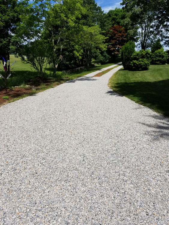 Completed Client Project  - White Gravel Driveway